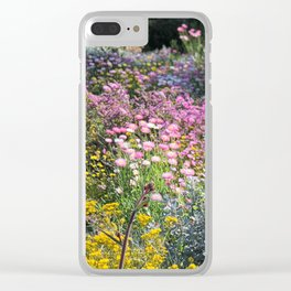 Wildflowers by Day Clear iPhone Case