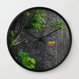 Chemin de randonnée, azores Wall Clock