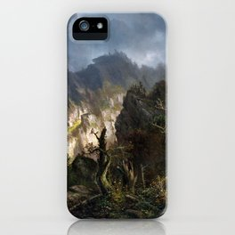 Hermann Herzog Storm in the Mountains iPhone Case