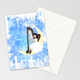 Harp girl 5: Connection Stationery Cards