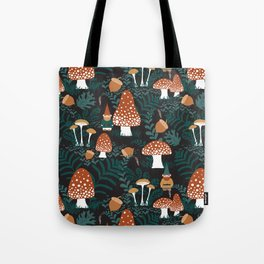 Mushroom Forest Gnomes Tote Bag