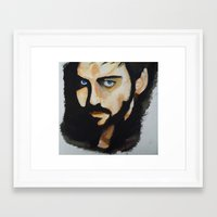 hook Framed Art Prints featuring Hook by Brittany Ketcham