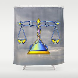 Scales Knot Shower Curtain
