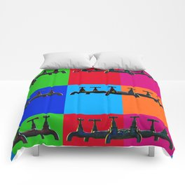 Industrial inspiration for a colorful tap design Comforters
