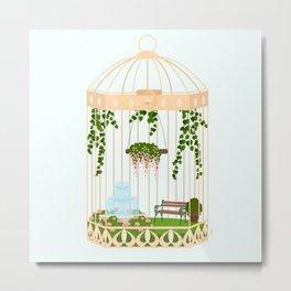 bird cage garden Metal Print