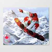 snowboard Canvas Prints featuring Snowboard Sochi 2014 by kirono