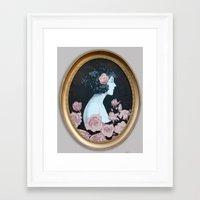 helen Framed Art Prints featuring Helen by Mike Ferrari