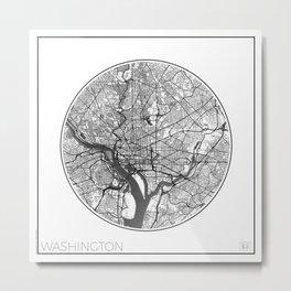 Washington Map Universe Metal Print
