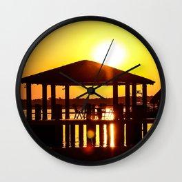 Sunset in La Barra de Santiago Wall Clock