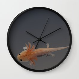 Axolotl Vector in Orange Wall Clock