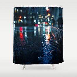 Cold City Lights Shower Curtain