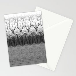 Loom: Black and White, November Trees Stationery Cards
