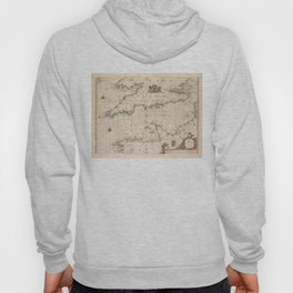 Vintage Map of The English Channel (1672) Hoody
