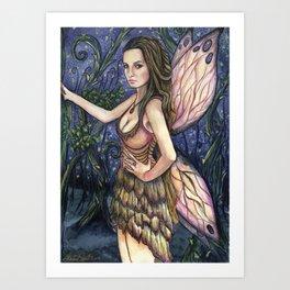 Fireflies Fairy Art Art Print