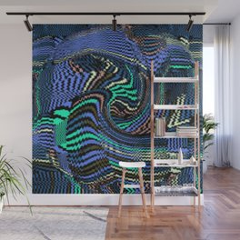 Tile Puzzle Blues Wall Mural