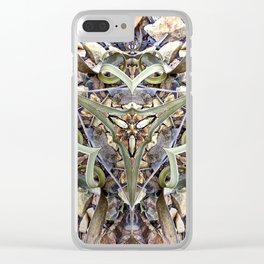 Magnified No 1 Clear iPhone Case