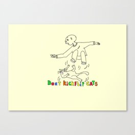 Don't kickflip Cats Canvas Print