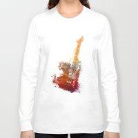 bass Long Sleeve T-shirts featuring Bass Guitar by jbjart