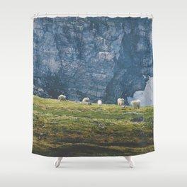 Beartooth Mountain Goats Shower Curtain