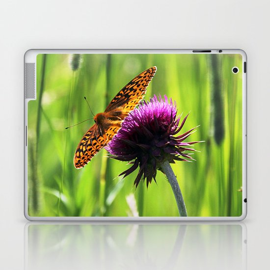 Great Spangled Fritillary Laptop & iPad Skin