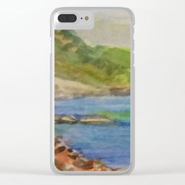 silent island Clear iPhone Case