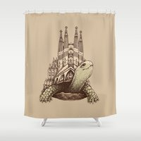 architecture Shower Curtains featuring Slow Architecture by Enkel Dika