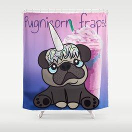 Pugnicorn fraps! Shower Curtain