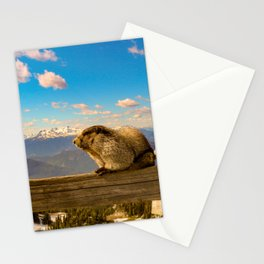 Hoary marmot in Vancouver Stationery Cards
