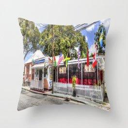 Coffy's Barbados Bar Throw Pillow