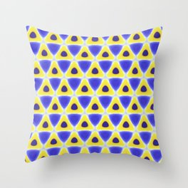 A sea of Triangles Throw Pillow