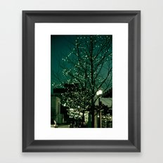Twinkle Lights Framed Art Print