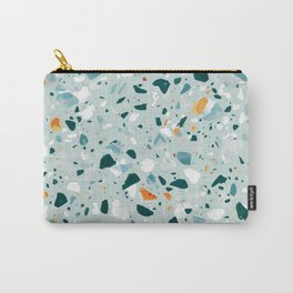Mint Terrazzo #pattern #abstract Carry-All Pouch