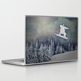 The Snowboarder Laptop & iPad Skin