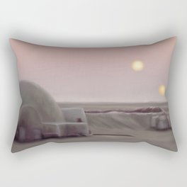 Twin Suns Dessert Rectangular Pillow