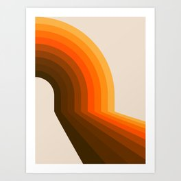 Golden Halfbow Art Print