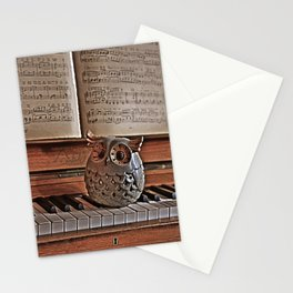 the pianos Owl Stationery Cards