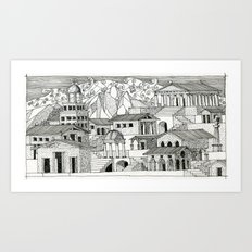 architectural fantasy_2_1 Art Print