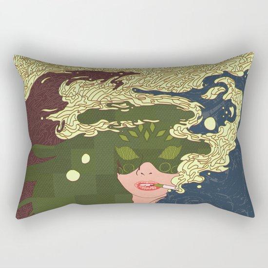 Heavy Smoke Rectangular Pillow