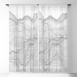 Soft Peaks Sheer Curtain