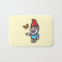 Gnome and Butterfly Bath Mat