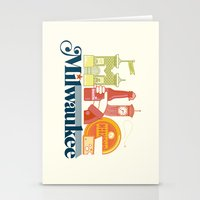 milwaukee Stationery Cards featuring MKE ~ Milwaukee, WI by Jeremy Pettis