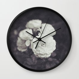 Retro Style Photography of Rose Flowers. Wall Clock