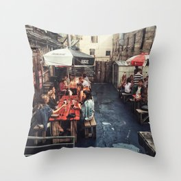 Outdoor Brunch Throw Pillow