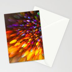 Champagne Sparkles and Color Bomb Burst Stationery Cards