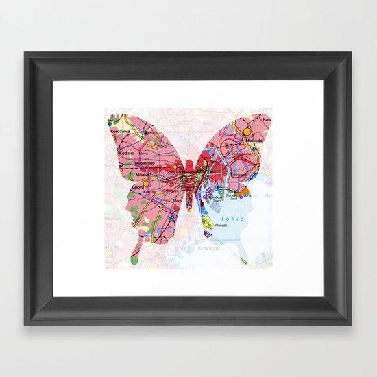 papillon - tokio Framed Art Print
