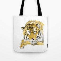 Sleepy Tiger Tote Bag