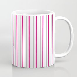 Grey pink stripes pattern Coffee Mug