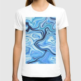 Marbled Frenzy Electric Blue T-shirt