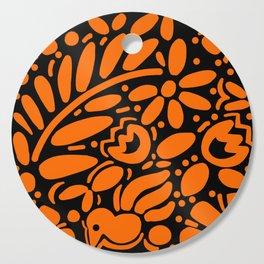 Beautiful Orange Otomi Cutting Board