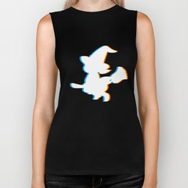 Psychedelic Witch Simple Halloween Costume Idea for Witchcraft Lovers Trick or Treat Cool Retro Neon Biker Tank